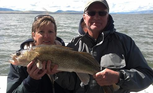 30 inch walleye. May. Canyon Ferry Lake. Caught by Nancy Simmons