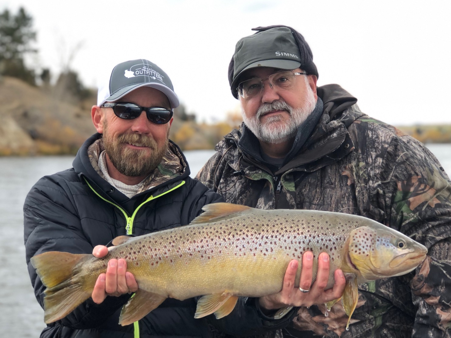 """30"""" Brown Trout caught by Larry Chandler"""